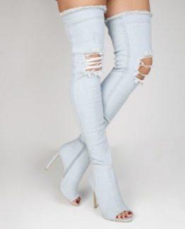 Stivali jeans estivi tacco 12
