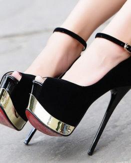 Scarpe nere oro