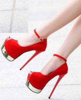 Scarpe rosse oro