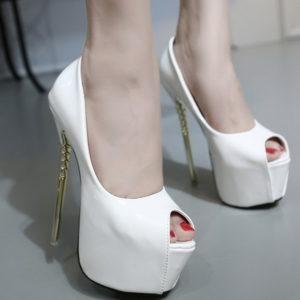Scarpe vernice bianche