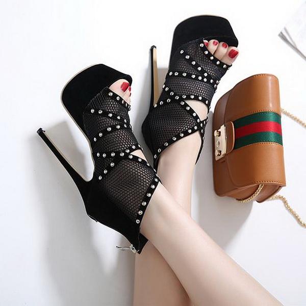 Sandali rete tacco 16