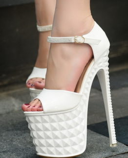 Sandali bianchi tacco 19