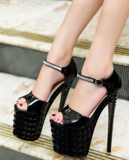 Sandali neri tacco 19