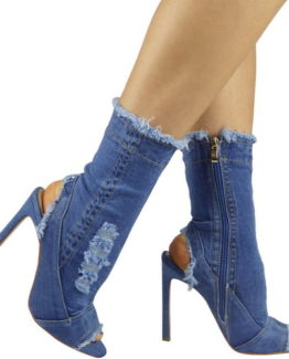 Stivaletti jeans tacco 12