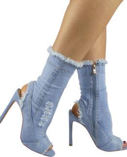 Stivaletti jeans chiaro