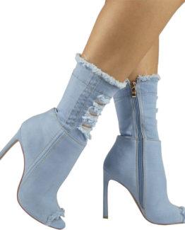 Stivaletti jeans chiaro Lola