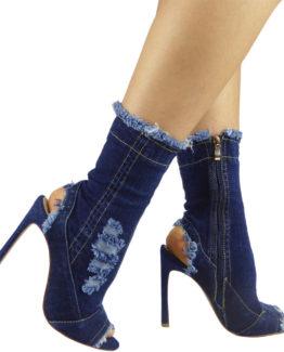 Stivaletti jeans scuro
