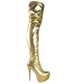 Stivali sopra al ginocchio oro