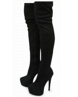 Stivali sopra al ginocchio suede